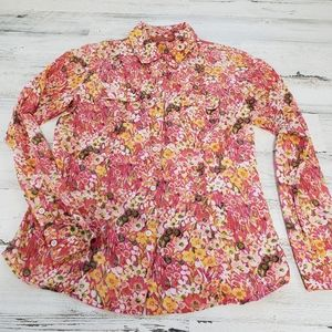 Tommy Bahama Relax Floral Button Up Top Size XS